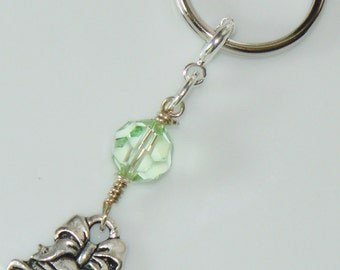 Zipper Pull Key Ring with Holiday Charm - Silver Bells
