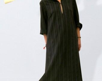 Maxi kaftan dress with pinstripes, oversized Ethno dress, boho dress, maxi tunic, gypsy dress, festival dress, maxi dress, ethnic dress,