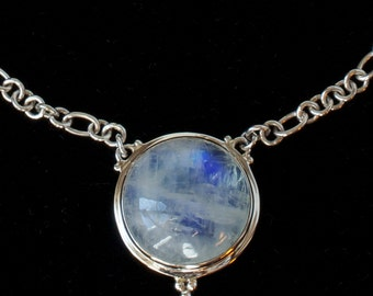 Rainbow Moonstone Necklace: CASEY