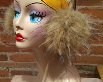 Fluffy Faux Coyote Fur Earmuffs