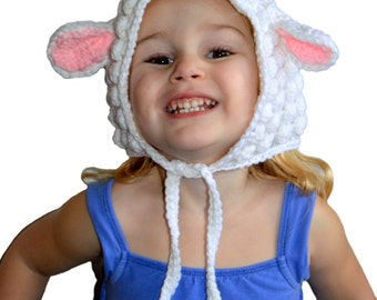 Toddler Spring Bonnet, Lamb Hat, Lamb Costume, Cute Baby Girls Hat, Baby Hat, Toddler Hat, Lamb of God, Easter Hat, Baby Girls Hat, Bonnet