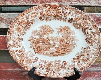 Vintage Tonquin by Franciscan Staffordshire England Hand Engraved Platter