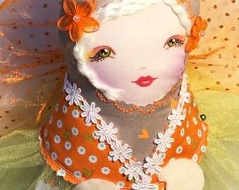 Cloth Doll Tooth Fairy Pixie Matryoshka OOAK Face