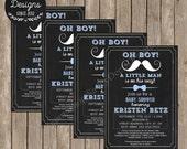 Little Man Baby Shower Invitation - Little Man Baby Shower Theme - Mustache Baby Shower Invitation - Oh Boy Baby Shower - DIY Printable