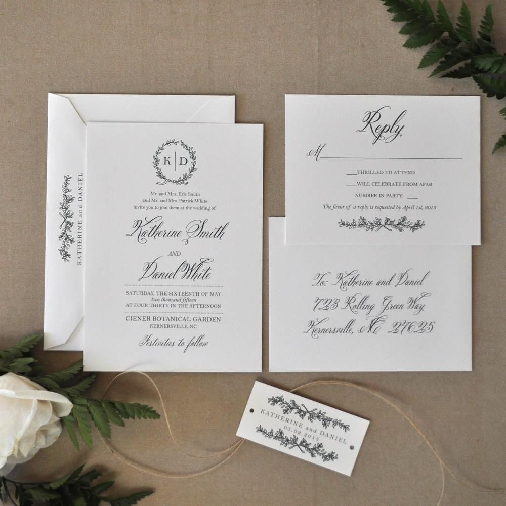 English Garden Wedding: English Garden Wedding Invitation Wedding Invitation