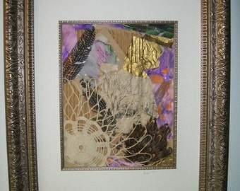 Framed and matted collage