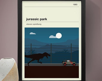 Jurassic Park Movie Poster - Movie Poster, Movie Print, Film Poster, Film Poster