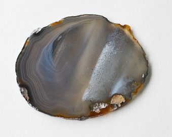 1 Large Earth Tone Agate Crystal Quartz Natural Geode Mineral Rock Stone Slice