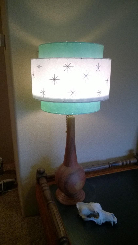 Vintage Mid Century Style Fiberglass Lamp Shade Modern Atomic