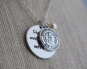 She Who Waits Also Serves - Military Wife - Military Wife Gift- personalized jewelry- handstamped jewelry- MILSO jewelry
