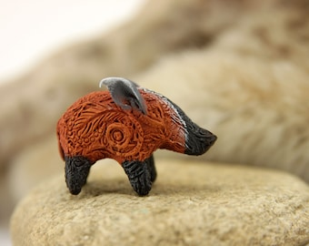 Animal Totem Red River Hog Ornament Figurine Personalized Fantasy Skulpture Guardian Spirit Amulet Shamanic Native
