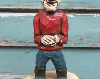 Hand Carved Fisherman
