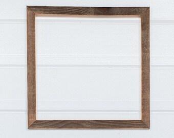 """12 x 12  1"""" Barnwood Frame"""