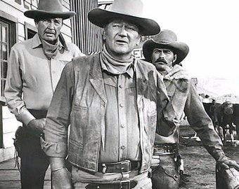 John Wayne on the set of CHISUM (1970)