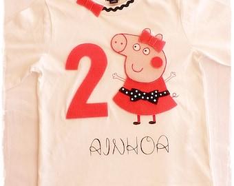 Birthday shirt, Peppa pig birthday shirt, Peppa pig shirt, Peppa pig first birthday, Peppa shirt, Peppa, birthday shirt,