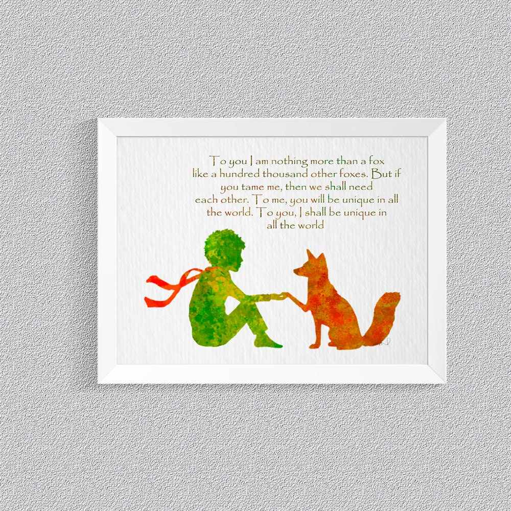 Le petit prince fox quote the little prince fox by Decoration le petit prince