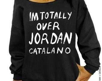 Im Totally Over Jordan Catalano - Black Slouchy Oversized Sweatshirt