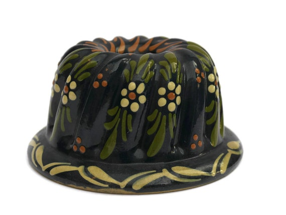French Vintage Kugelhopf Ceramic Bundt Pan Bundt Cake Mold