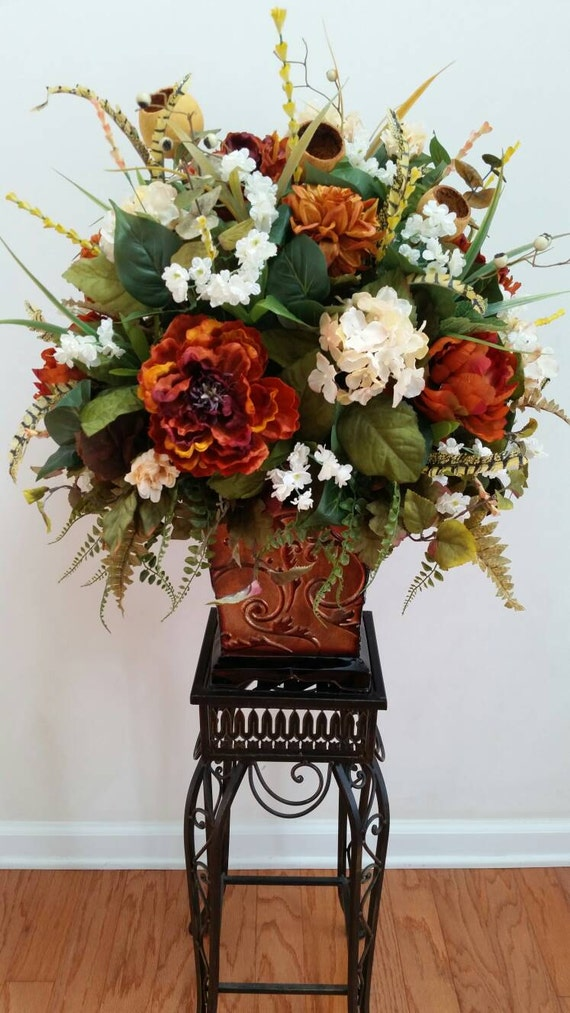 Extra large floral arrangement silk flowers by