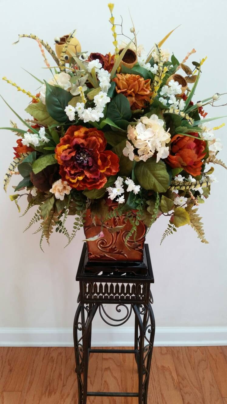 Extra Large Floral Arrangement Silk Flowers by ...