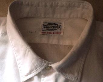 BOYFRIEND SHIRT, Mens Shirt, White Pima Cotton, Men's wear for Women, Weekend wear, Vintage, BIG Shirt
