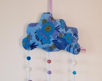 Purple Dream Hanging Cloud Mobile