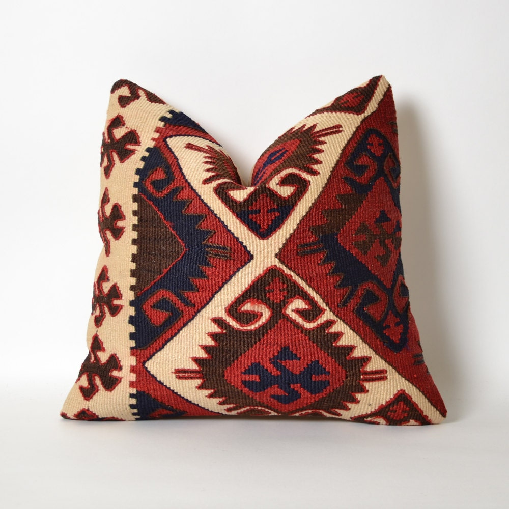 Kilim Pillow Cover 16x16 Southwestern Interior Design Gypsy