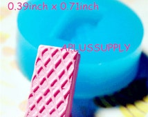 GYL039 Free Shipping Wafer Waffer Biscuit Mold Flexible Silicone Mold Miniature Sweets Deco Fimo Mold Polymer Clay Kitsch Jewelry Cabochon
