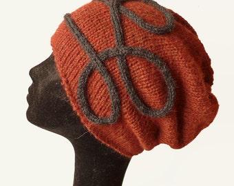 Baby Alpaca Slouch Beanie Hat / Knit Hat / Womens Hat