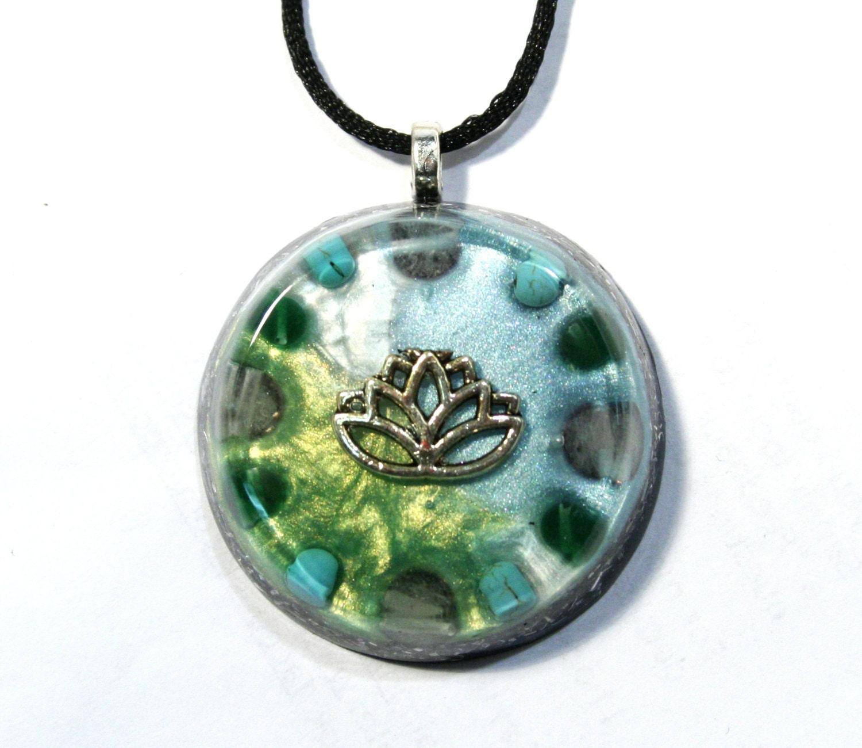 emotional healing orgonite pendant quartz turquoise