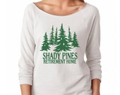 Shady Pines Retirement Home - Shady Pines Ma Golden Girls Next Level Ladies Poly Cotton 3/4 Sleeve Raglan - Item 2805