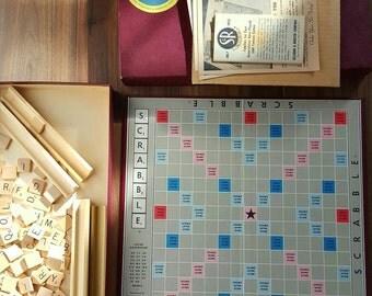 Vintage 1953 Scrabble Board Game