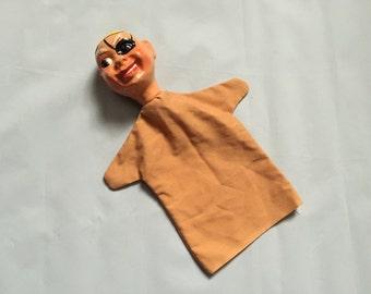 Handpainted 1950s original vintage pirate hand puppet