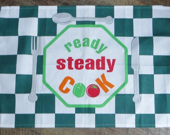 Ready,Steady cook tea towel - Free Postage