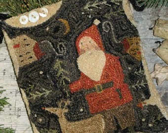 """Pattern: Punch Needle """"Merry Old Soul""""  - With Thy Needle and Thread - Country Stitches - Brenda Gervais"""