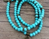 Beautiful Turquoise Stretch Mala