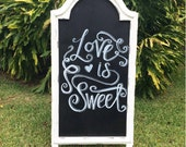 Large White Chalkboard Easel/Wedding Chalkboard/Chalkboard with Stand/Baby Shower Chalkboard/Chalklettering/Chalkboard Sign