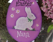 Personalized Easter Egg Bunny Ornament