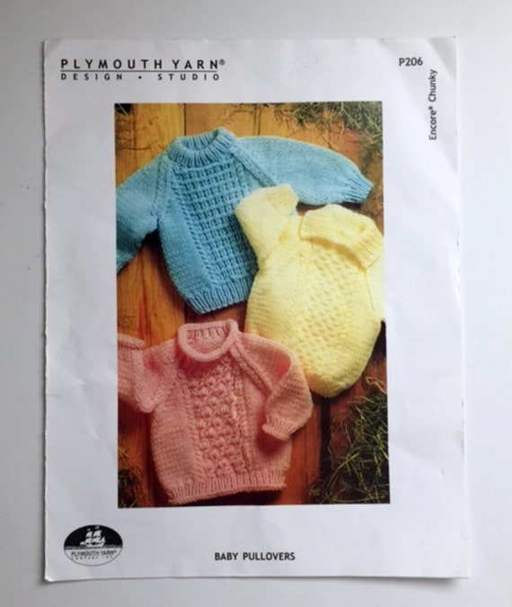 Baby Pullover Sweater Knitting Pattern Book by ...