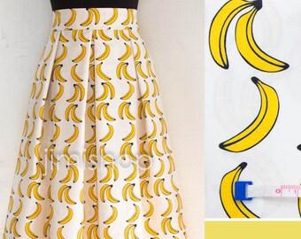 Banana skirt, knee length skirt, maxi skirt, designer skirt, made to order