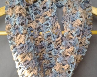Lacey Crochet Infinity Scarf