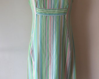 1960s Stripe Dress with Bow