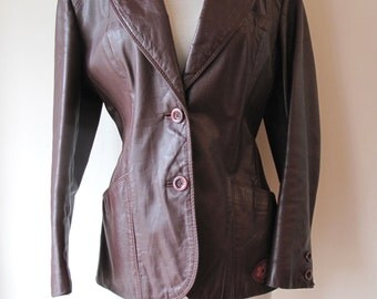 1960s or 70s Leather Jacket