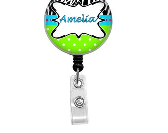 Badge Reel - Id Badge Holder - Badge Holder - ID Badge Reel - Retractable Badge - Nurse - Name Badge Holder - Nurse Badge Reel - Id Holder