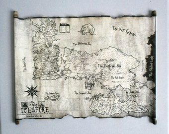 Essos map and westeros map game of thrones the known world map essos map and westeros map scroll poster game of thrones map of essos and map of gumiabroncs Image collections