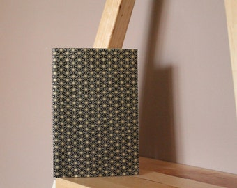 "Hand-bound book ""Tess - black & gold"""