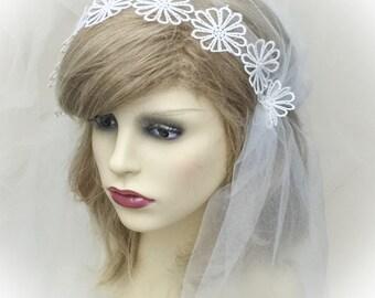 Wedding veil, bridal veil, Juliet cap veil, Gatsby style veil, Ivory veil, historical veil, Bridal veil, wedding veil, veil