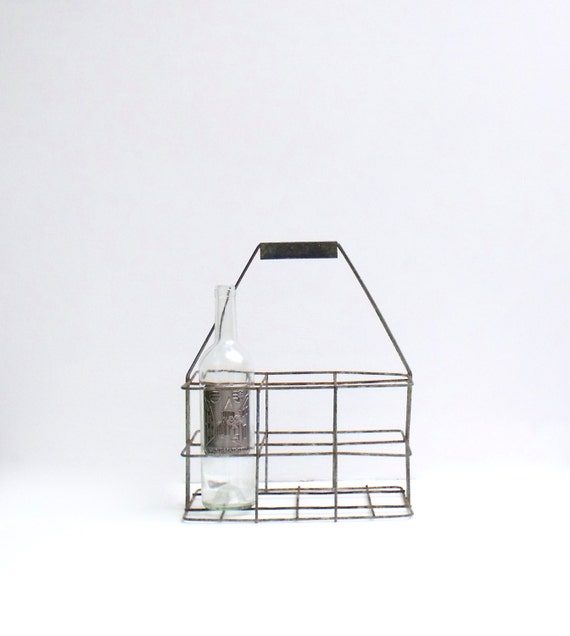 French wine bottle industrial metal wire carrier milk bottles - Wire wine bottle carrier ...