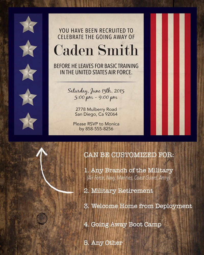 Military Going Away Party Invitation Deployment Party – Deployment Party Invitations