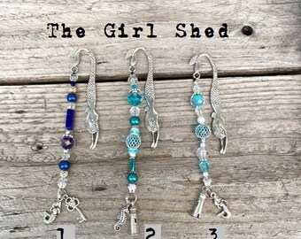 Mermaid Bookmarkers- Beaded- Choice of Color-Collection A